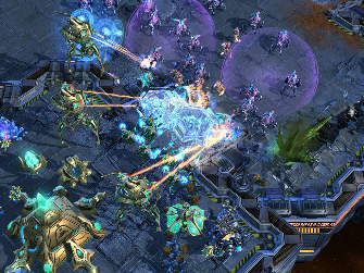 StarCraft 2 game-play (image from Video Games Blogger)